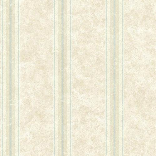 York Wallcoverings Rhapsody Warm Pearl and Pale Beige Crackle Stripe Wallpaper: Sample Swatch Only
