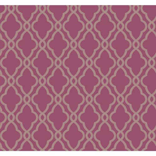 York Wallcoverings Waverly Classics Grape and Taupe Wallpaper