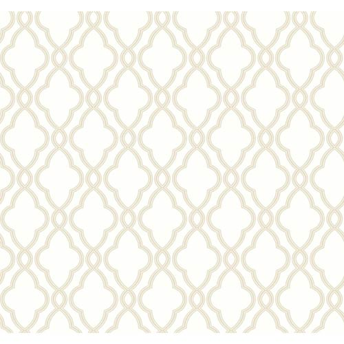 Waverly Classics Cream and Tan Wallpaper