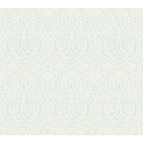 York Wallcoverings Waverly Classics Pale Sky and Cloud White Wallpaper