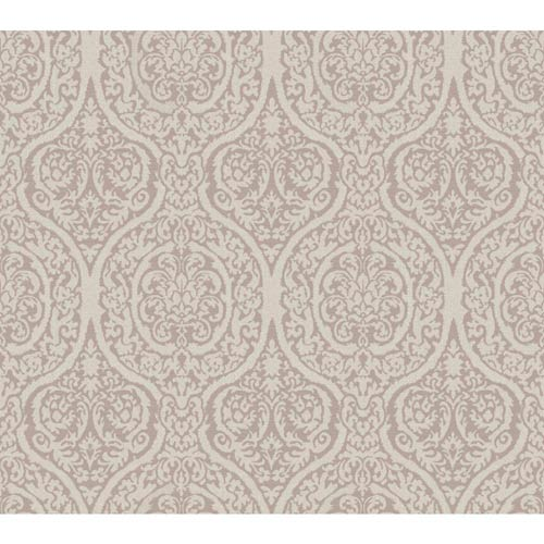 York Wallcoverings Waverly Classics Lilac and Rosy Gray Wallpaper