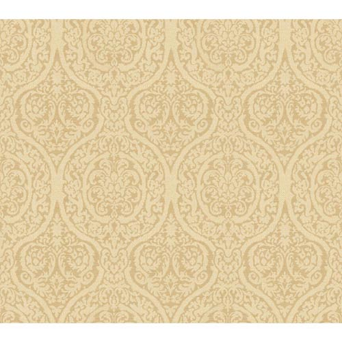 York Wallcoverings Waverly Classics Golden Wheat and Warm Beige Wallpaper