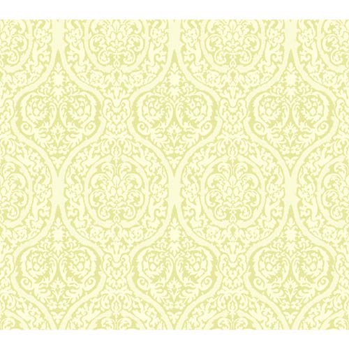 York Wallcoverings Waverly Classics Kiwi and White Asparagus Wallpaper: Sample Swatch Only