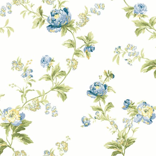 York Wallcoverings Waverly Classics Multi-Colored Wallpaper: Sample Swatch Only