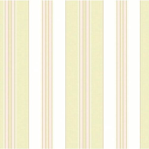 York Wallcoverings Waverly Classics Cream, Pale Lime, Pink and Taupe Wallpaper: Sample Swatch Only