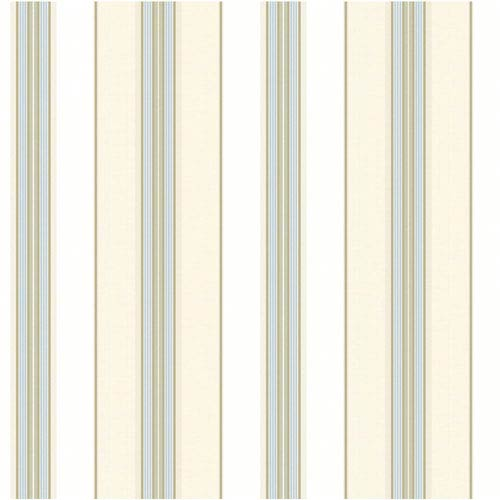 York Wallcoverings Waverly Classics Cream, White, Sky Blue, Caramel and Taupe Wallpaper