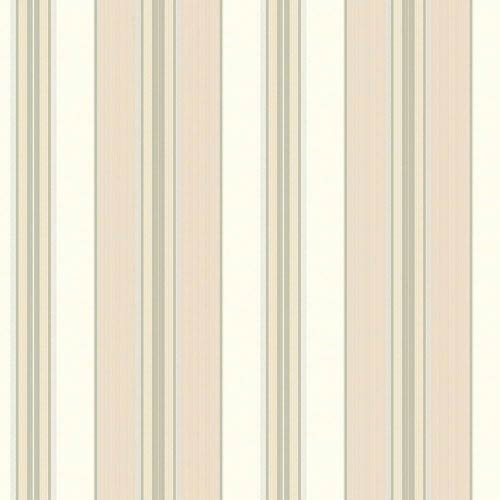 York Wallcoverings Waverly Classics Cream, Beige, Pale Yellow, Light Gray and Medium Gray Wallpaper: Sample Swatch Only