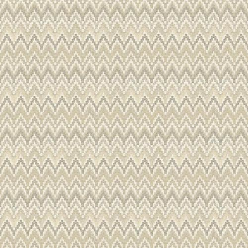 York Wallcoverings Waverly Classics Ecru, Buff and Charcoal Brown Wallpaper: Sample Swatch Only