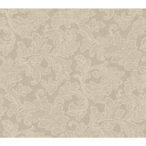 Waverly Classics Linen and Taupe Wallpaper