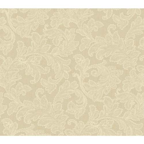 York Wallcoverings Waverly Classics Burlap and Cream Wallpaper
