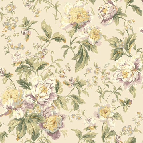 York Wallcoverings Waverly Classics Multi-Colored Wallpaper