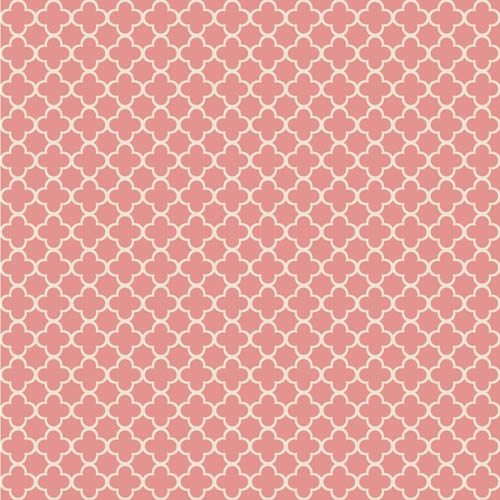 Waverly Classics Coral and Ecru Wallpaper