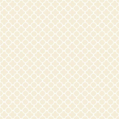 York Wallcoverings Waverly Classics Beige and Cream Framework Wallpaper: Sample Swatch Only