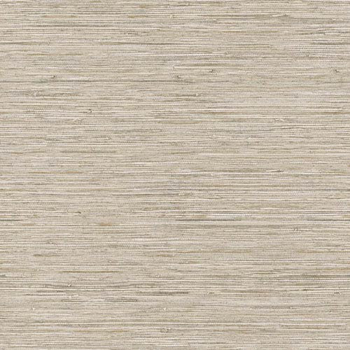 Nautical Living Beige and Taupe Horizontal Grass cloth Wallpaper