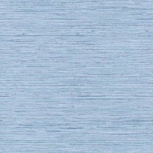 York Wallcoverings Nautical Living Faded Denim Blue Horizontal Grass cloth Wallpaper: Sample Swatch Only