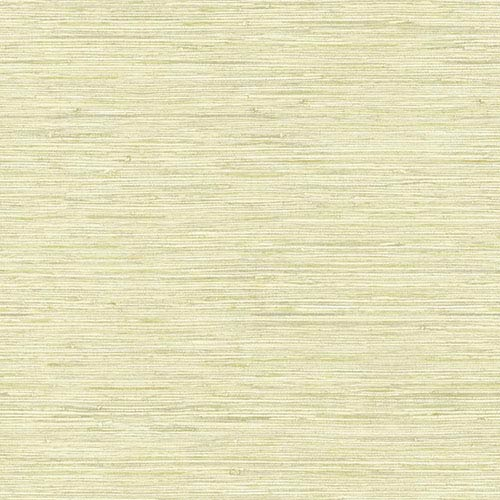 Nautical Living Pale Kiwi Green Horizontal Grass cloth Wallpaper
