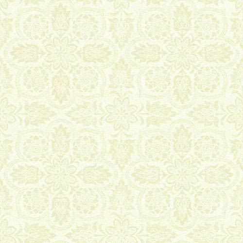 Waverly Classics I Curators Gem Removable Wallpaper Beige and White Wallpaper- Sample Swatch Only
