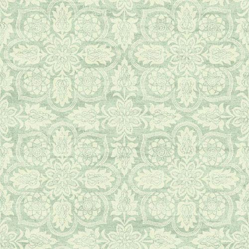 Waverly Classics I Curators Gem Removable Wallpaper Green and White Wallpaper- Sample Swatch Only