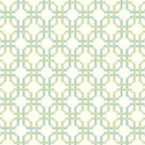 Waverly Classics I Groovy Grill Removable Wallpaper Blue Wallpaper- Sample Swatch Only
