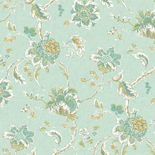 York Wallcoverings Waverly Classics I Arbor Imagery Removable Wallpaper Blue Wallpaper- Sample Swatch Only