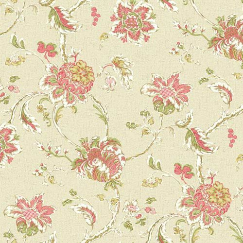 Waverly Classics I Arbor Imagery Removable Wallpaper Pink Wallpaper- Sample Swatch Only