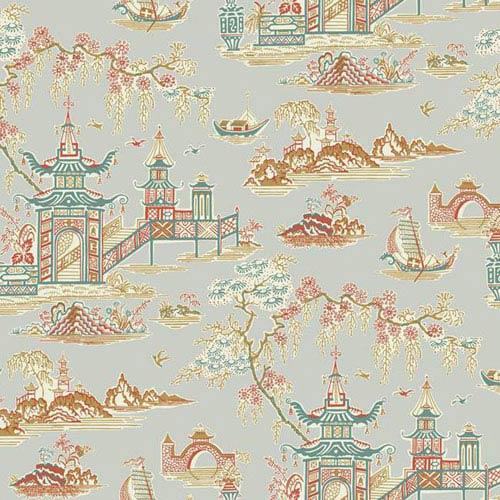 Waverly Classics I Peaceful Temple Removable Metallic Wallpaper