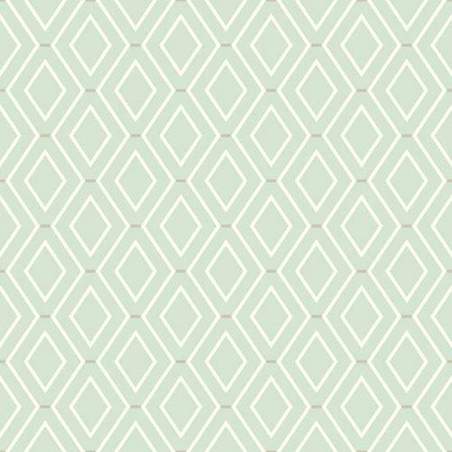 Waverly Classics I Diamond Duo Removable Green Wallpaper