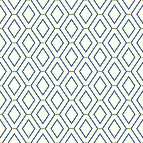 Waverly Classics I Diamond Duo Removable Blue Wallpaper