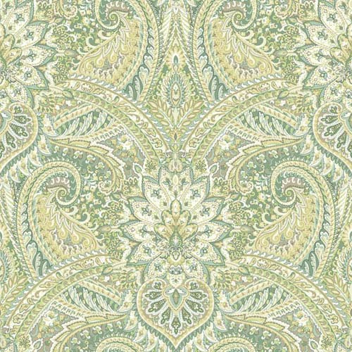 Waverly Classics I Swept Away Removable Green Wallpaper