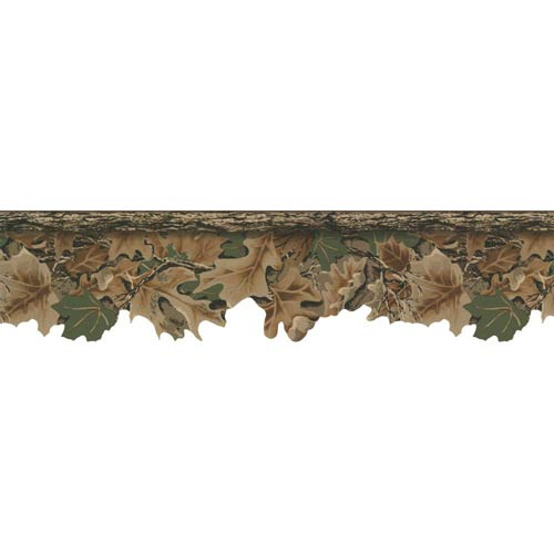 York Wallcoverings Lake Forest Lodge Realtree Camouflage Border: Sample Swatch Only