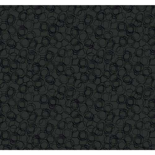 York Wallcoverings Wallpap-Her Patent Leather Black Princess Cut Wallpaper: Sample Swatch Only