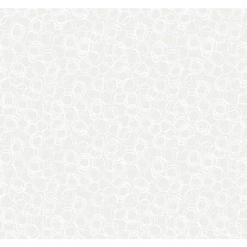 York Wallcoverings Wallpap-Her Champagne Pearl and White Princess Cut Wallpaper: Sample Swatch Only