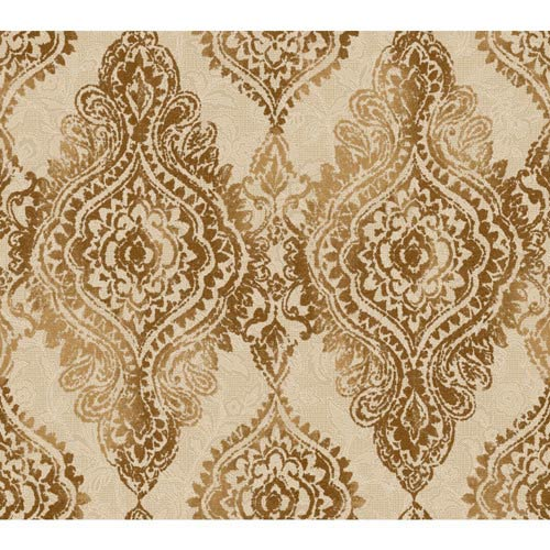 York Wallcoverings Wallpap-Her Hazelnut Boho Chic Wallpaper: Sample Swatch Only
