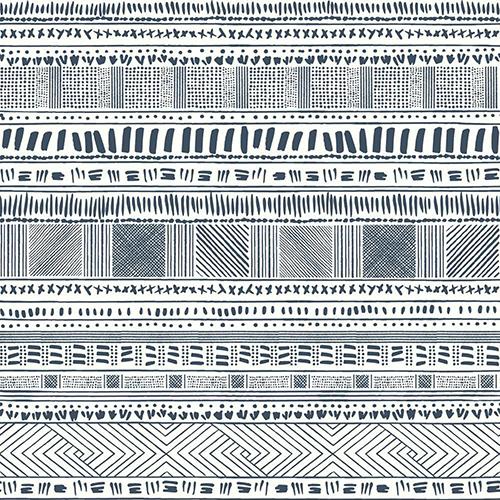 Tribal Print Blue Wallpaper