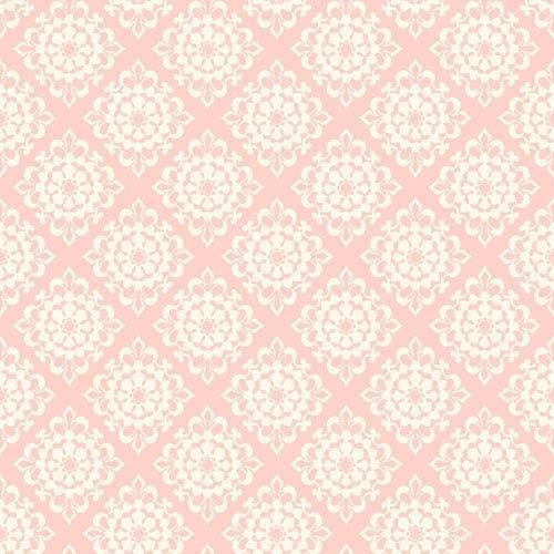 Waverly Kids Pink and White Lotus Wallpaper
