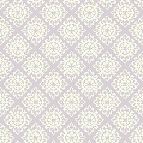 Waverly Kids Light Purple and White Lotus Wallpaper