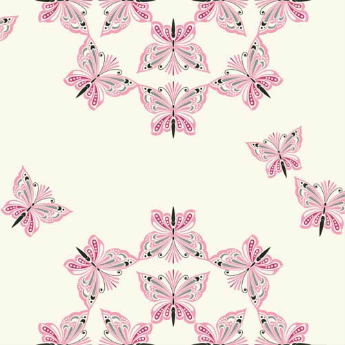 Waverly Kids White and Hot Pink Ipanema Wallpaper