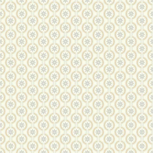 Waverly Kids Silver and Metallic Gold Chantal Wallpaper