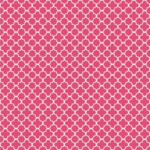 York Wallcoverings Waverly Kids Hot Pink And White Framework Wallpaper