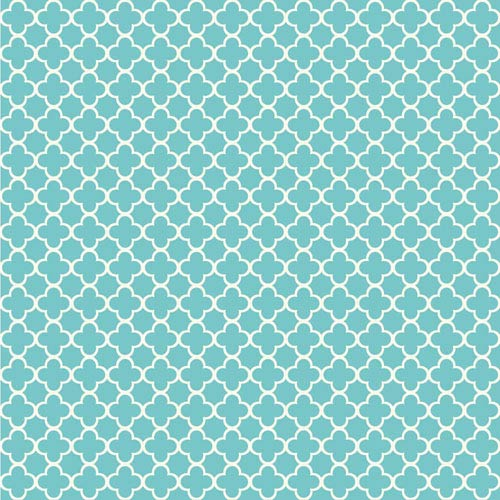 Waverly Kids Turquoise and White Framework Wallpaper: Sample Swatch Only