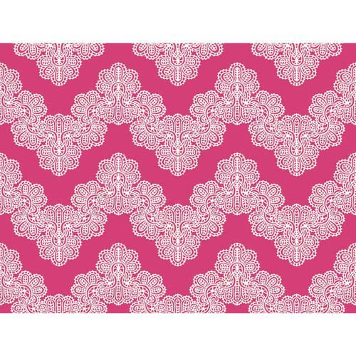 Waverly Kids Fuchsia and White Airwaves Wallpaper
