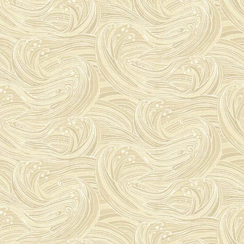 Waverly Kids Beige and Cream Ride The Wave Wallpaper: Sample Swatch Only