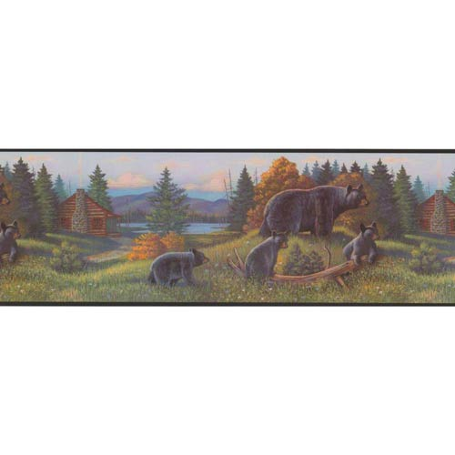 Inspired by Color Multi-Colored Bear Border Wallpaper