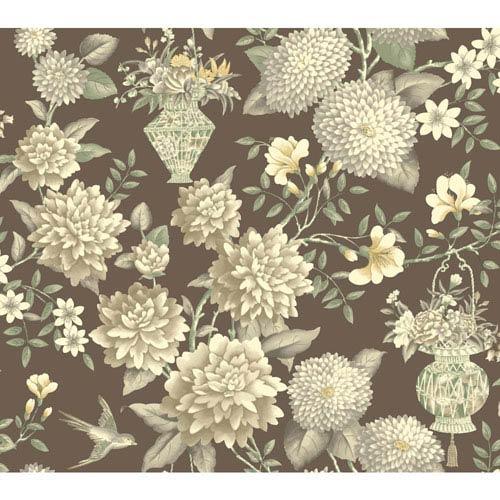 York Wallcoverings Williamsburg II Multicolor Floral Wallpaper