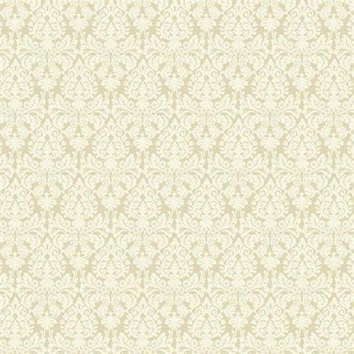 York Wallcoverings Waverly Small Prints Essence Ecru And Cream