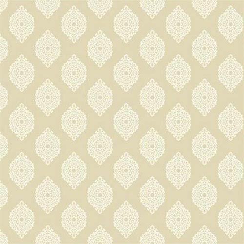 Waverly Small Prints Garden Gate Ecru and Cream Wallpaper