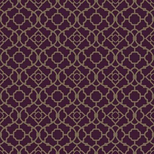 York Wallcoverings Waverly Small Prints Lovely Lattice Deep Plum And