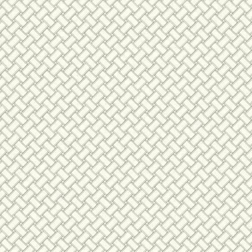 Carey Lind Watercolors White and Grey Basketweave Wallpaper