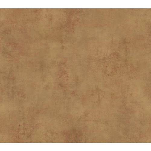 York Wallcoverings Inspired by Color Gold Metallic and Red Brown Wallpaper: Sample Swatch Only