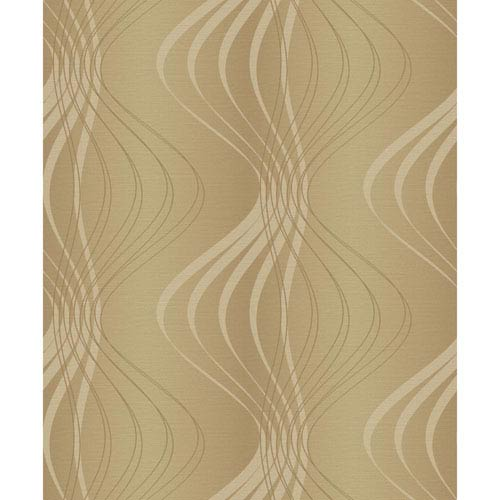 Glam Gold and Light Brown Wind Sculpture Wallpaper